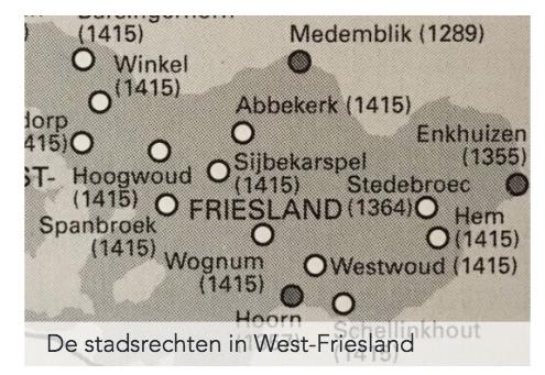 De plattelandssteden van 1414: